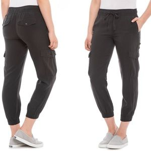 Cloth & Stone gray joggers drawstring waist M